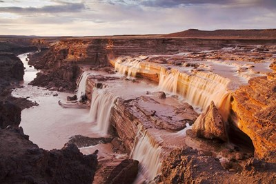 Grand Falls waterfall in Arizona