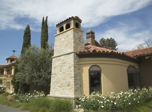 a spanish mission-styled hotel situated in Napa Valley