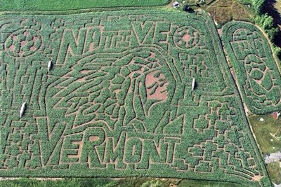 The Great Vermont Corn Maze is one of the most complex in the country.