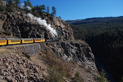 The Narrow Gauge Railroad and Museum offers one of the best train rides in the nation.