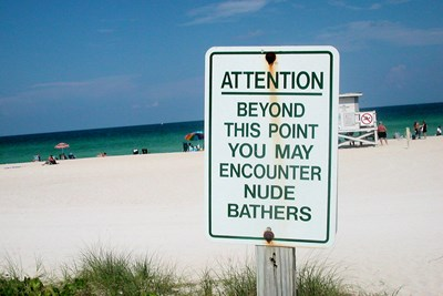 A lack of clothes is not a problem when visiting these locations.