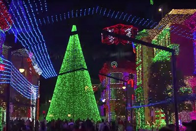 The Osborne Family Spectacle of Dancing Lights at Disney Hollywood Studios is one of the largest Christmas light displays in the nation.