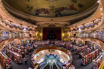 El Ateneo Grand Splendid in Buenos Aires, Argentina, used to be a theater.