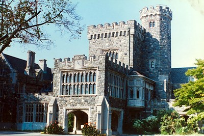 The Gould Guggenheim Estate has not one, but two castles.