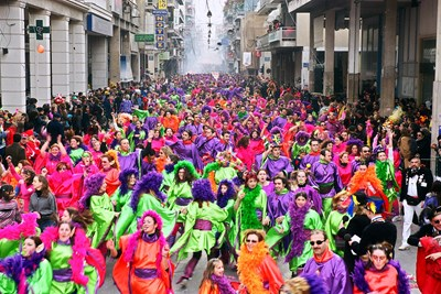 The carnival celebrations in Patras, Greece, are some of the largest in Europe.
