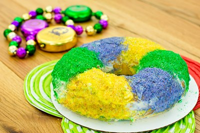 King Cake is a Mardi Gras favorite in Louisiana and the United States.