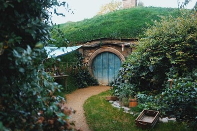 Matamata, New Zealand, looks like Hobbiton because it was the filming location for the Lord of the Rings movies.