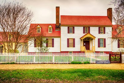 An historic house in colonial williamsburg