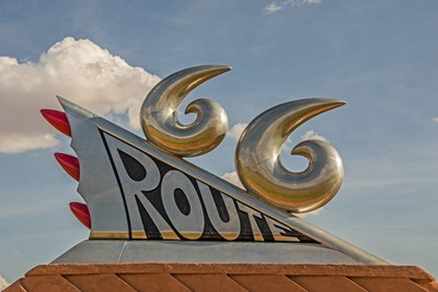 The Route 66 Monument in Tucumcari, New Mexico.