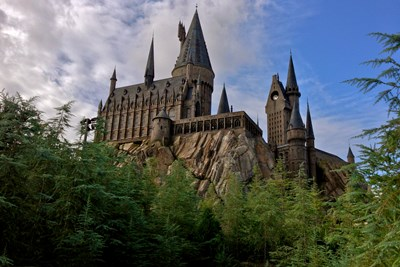 Hogwarts Castle at Universal Studios Orlando in Florida.