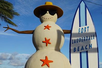 A Fort Lauderdale Snowman