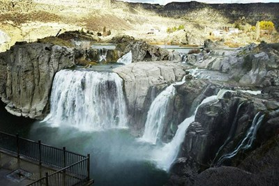 Shoshone Falls is a famous waterfall in Idaho.