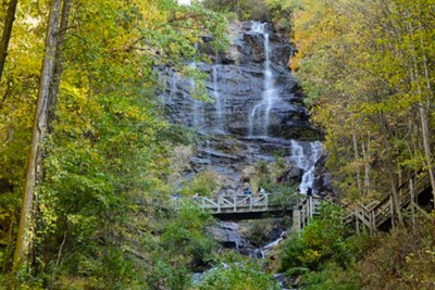 Amicalola Falls in Georgia near the southern end of the Appalachian Trail.