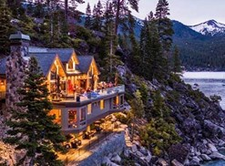 a large expensive house overlooking lake tahoe in crystal bay nevada