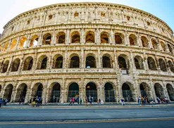 the exterior of the colosseum in rome, italy