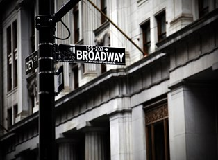 a street sign in new york says broadway