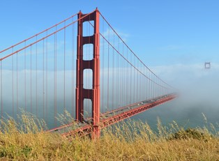 the golden gate bridge is one of the most-visited us destinations