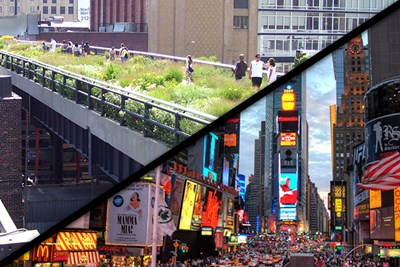 Instead of visiting Times Square, visit the High Line instead.