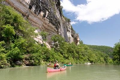 The Buffalo River is a popular recreational destination in Arkansas.