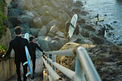 Santa Cruz is one of the best surfing locations in California.