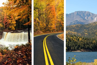Gorgeous fall leaves can be found from New York to Colorado.