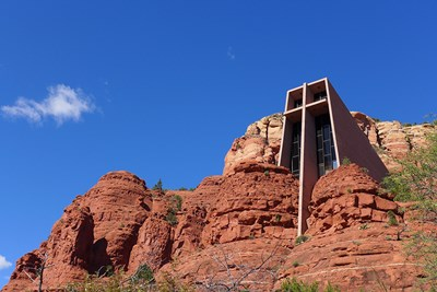 The Chapel of the Holy Cross is one of Arizona's best architectural features.