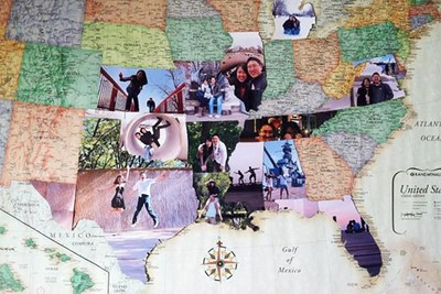 A photo travel map