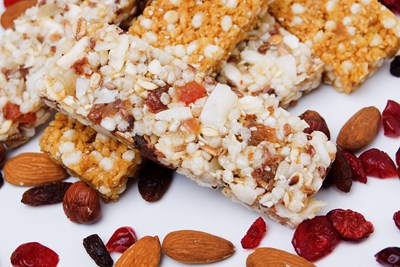 Granola bars are an easy snack to bring on a road trip.
